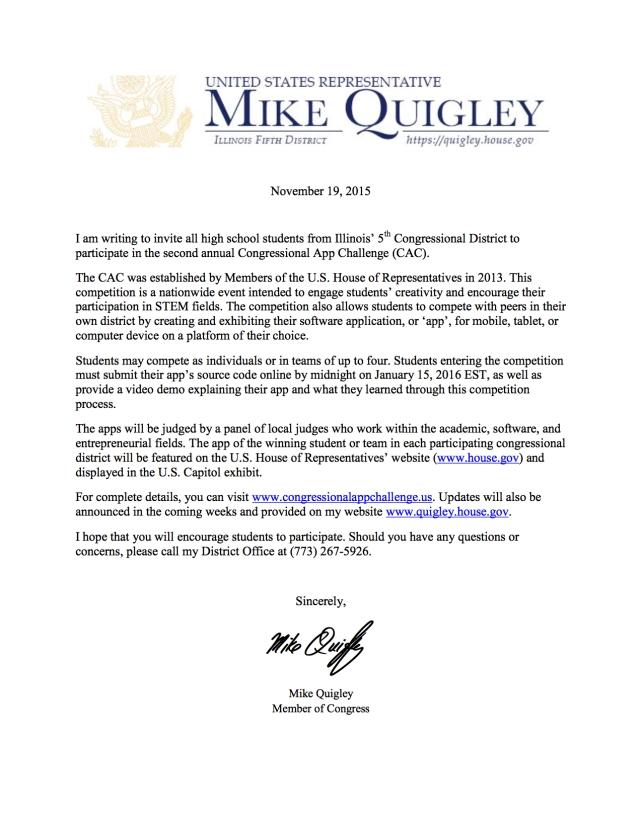 2nd Annual Congressional App Challenge Invitation