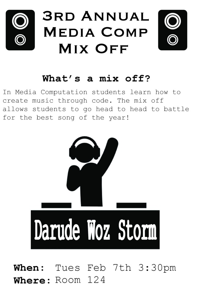 Mix Off Flyer
